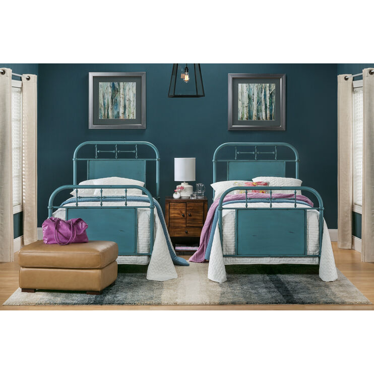Vintage Blue Twin Bed