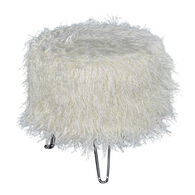 Picasso Faux Fur Stool