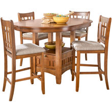 Santa Rosa 5Pc Oak Counter Dining Set