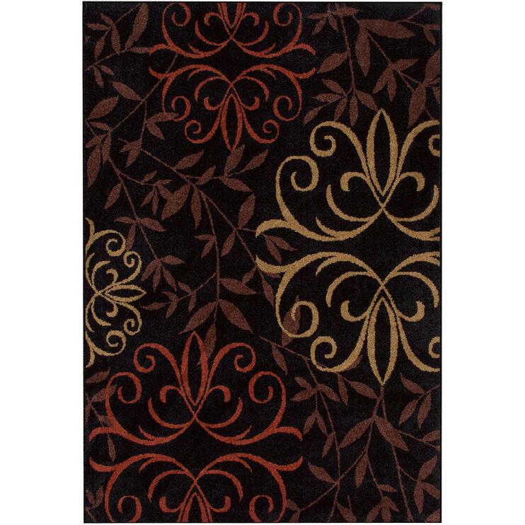 Four Seasons Josselin Black 5 x 8 Rug