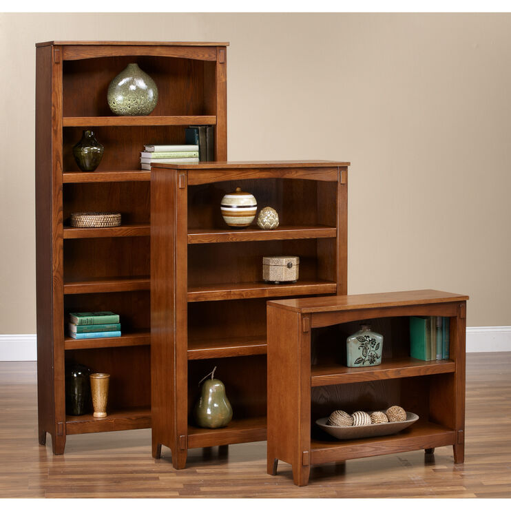 Cross Island Brown Large Bookcase