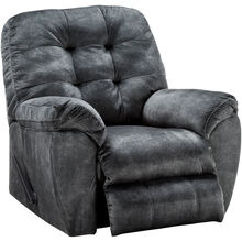 Bellows Gray Rocker Recliner