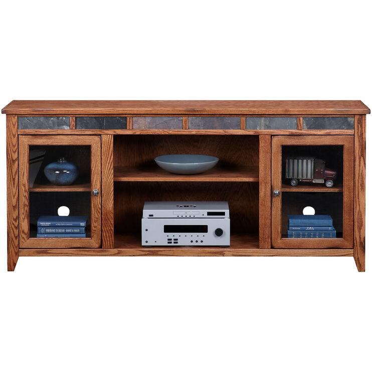 Evanston Antique Oak 72 Inch Hiboy Console