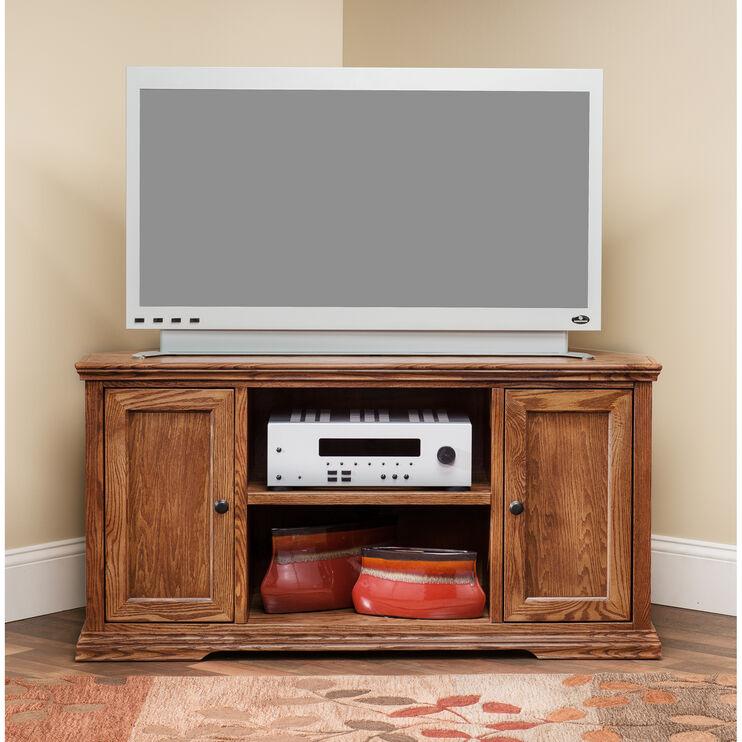 Chambers Golden Oak 49 Inch Corner Console