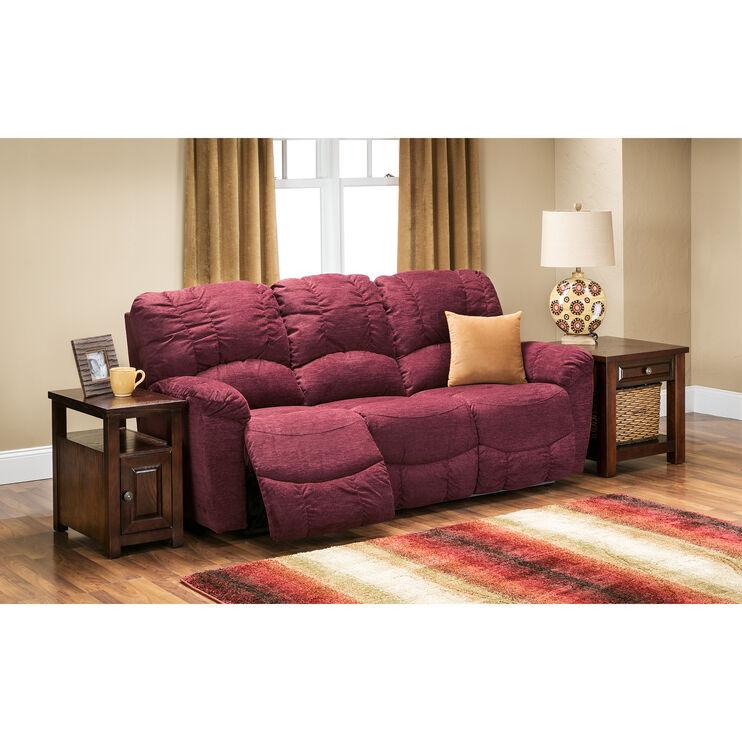 Slumberland Furniture La Z Boy Hayes Garnet Reclining Sofa