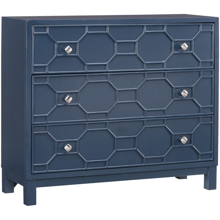 Matrix Navy 3 Drawer Chest