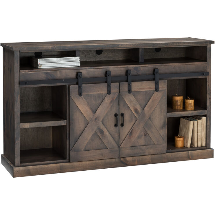 Joshua Creek Barnwood Fireplace Console