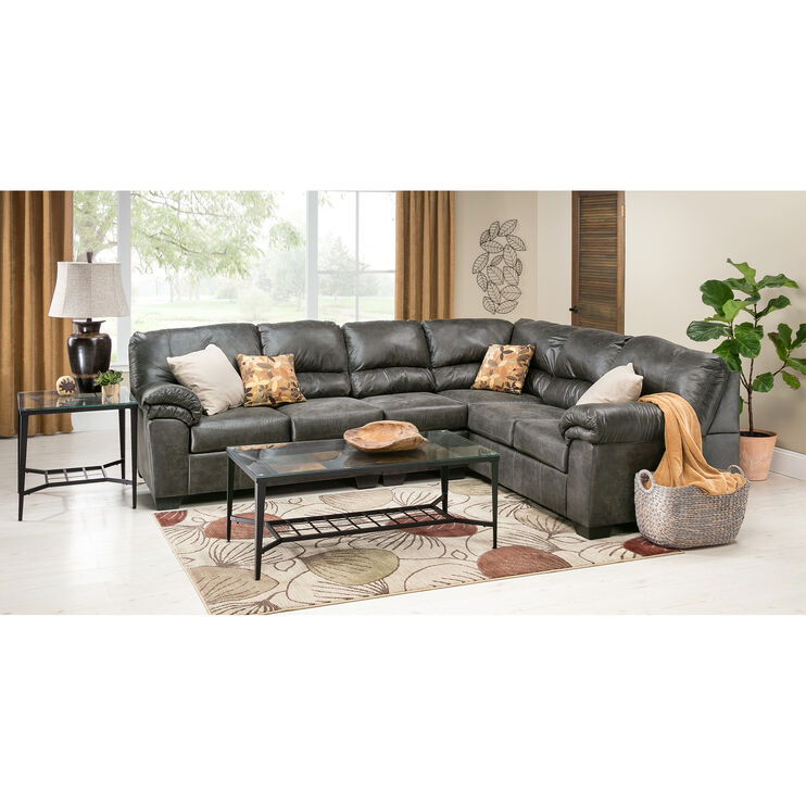 Redmond 3Pc Slate Sectional