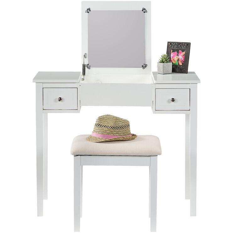 Kendall Antique White Vanity Set