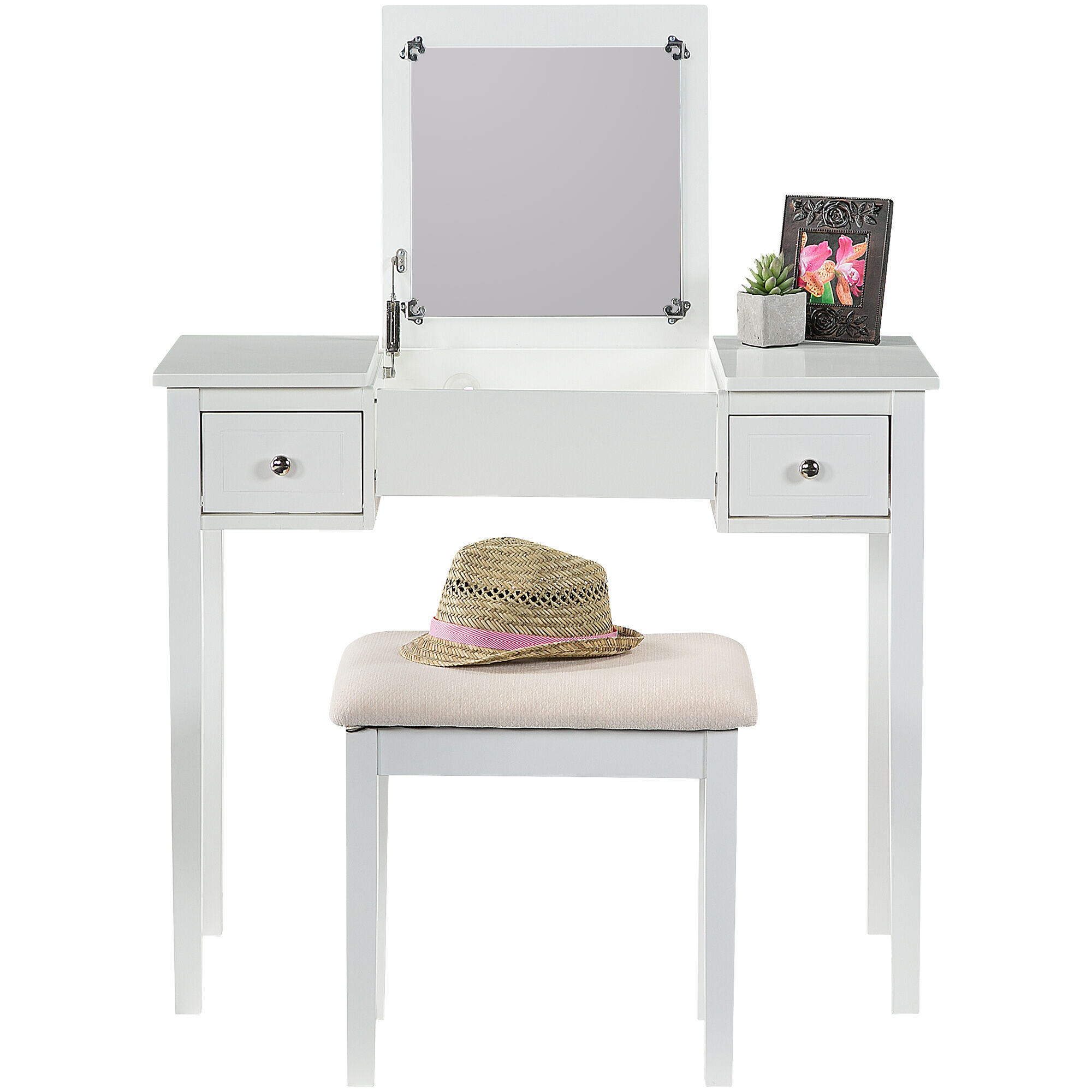 ... Kendall Antique White Vanity Set ...