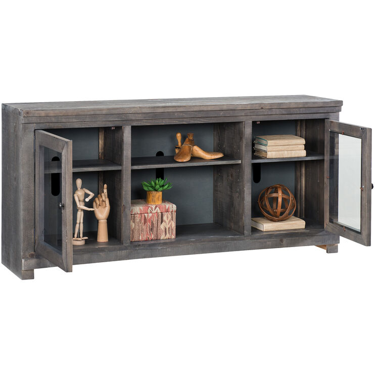 Willow Distressed Dark Gray 68 Inch Console