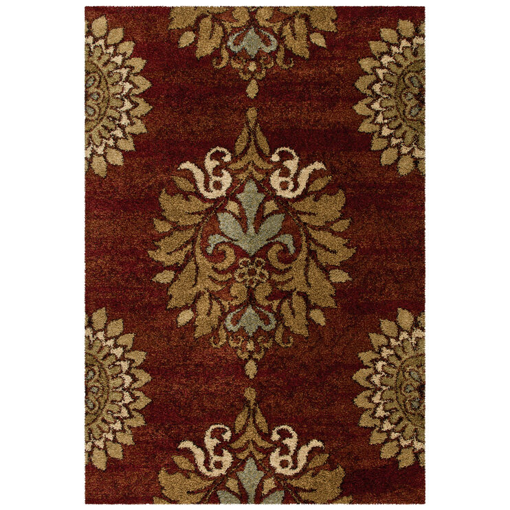 Wild Weave Jacqueline Rouge Red Medallion 5 x 8 Rug