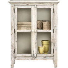 Rustic Shores Antique White 2 Door Cabinet