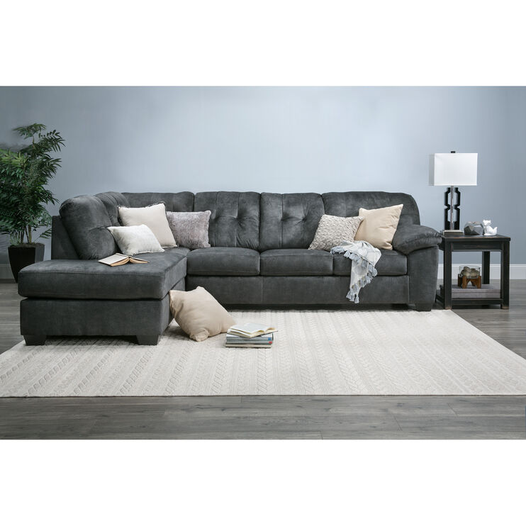 Slumberland Furniture Bellows Gray Left Chaise Sectional