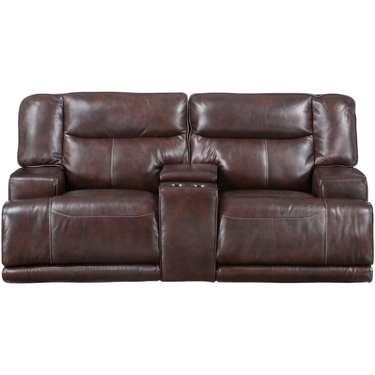 Tompkins Brown Power Reclining Loveseat