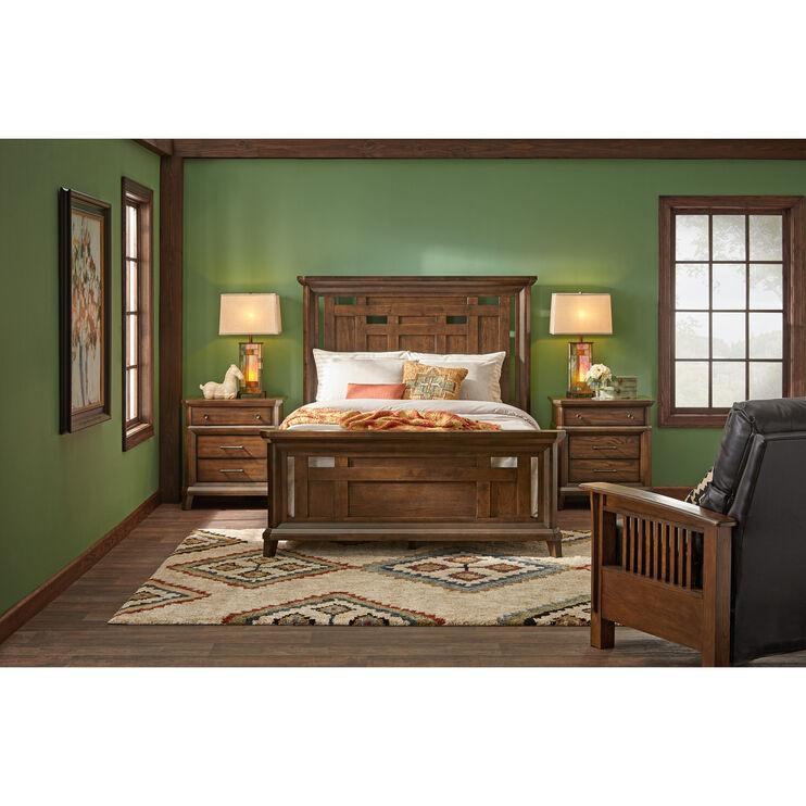 Acorn Hill Brown Queen Bed Slumberland Furniture