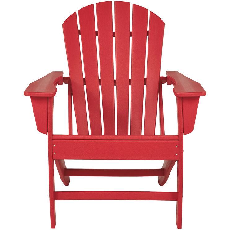 Sundown Red Adirondack Chair