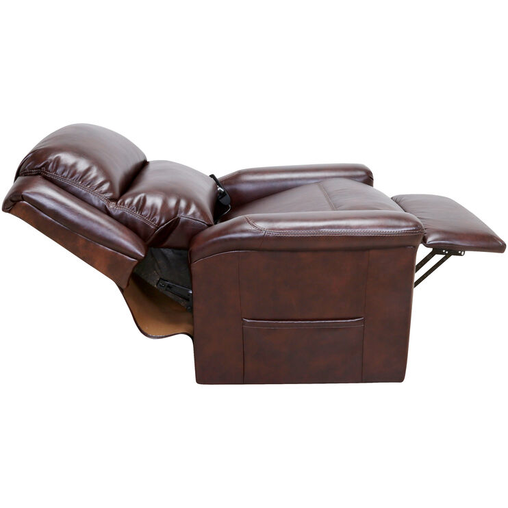 Coral Chocolate Lift Recliner