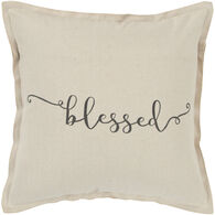 Sentiment Blessed Flanged Down Pillow