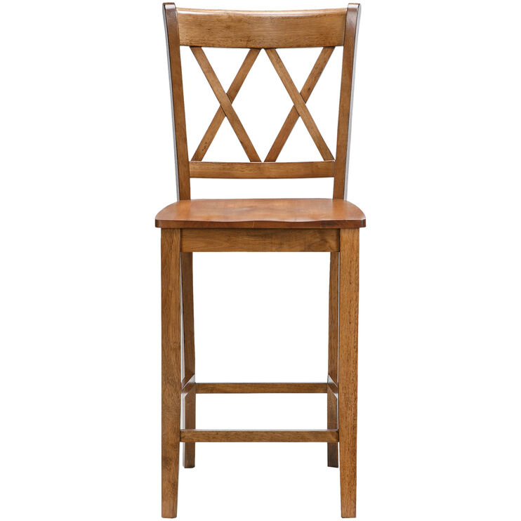 Platinum Oak 30 Inch X Back Bar Stool