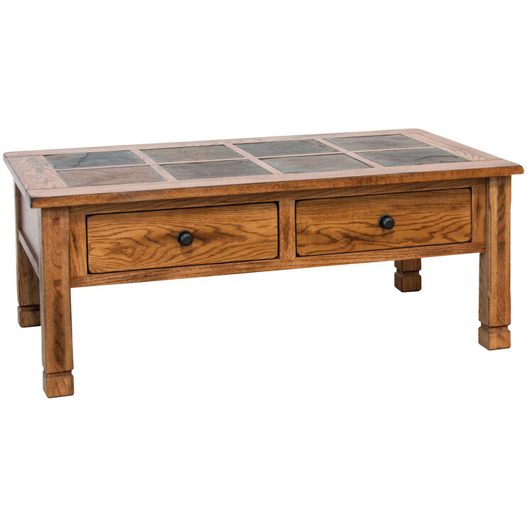 Sedona Rustic Oak Cocktail Table
