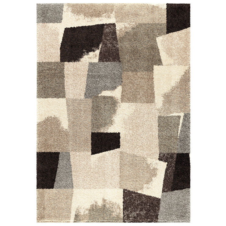 Wild Weave Rampart Slate Abstract Blocks 8 x 11 Rug