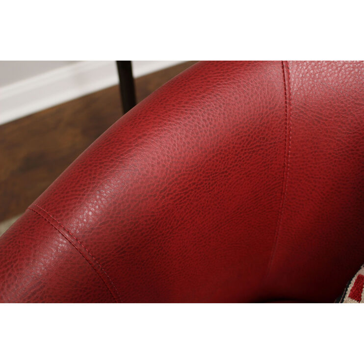 Windsor Red Accent Chair