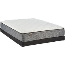 Sealy Nokomis II EuroTop Queen Mattress and Low Profile Foundation Set