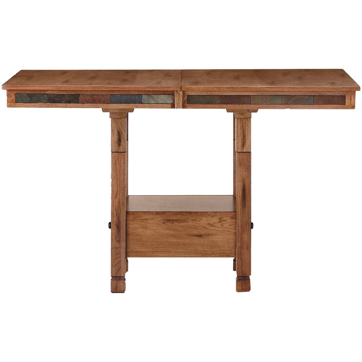 Sedona Rustic Oak Adjustable Height Table