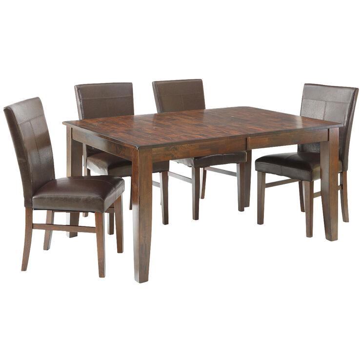 Kona Raisin 5 Piece Parsons Dining Set