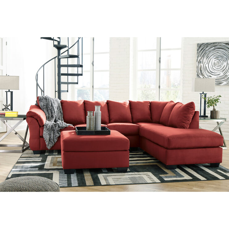 Marcy Salsa Right Chaise Sectional
