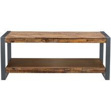 Loftworks Distressed Brown One Shelf Coffee Table