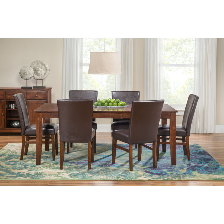 Groovy Kona Raisin 5 Piece Parsons Dining Set Slumberland Furniture Gmtry Best Dining Table And Chair Ideas Images Gmtryco