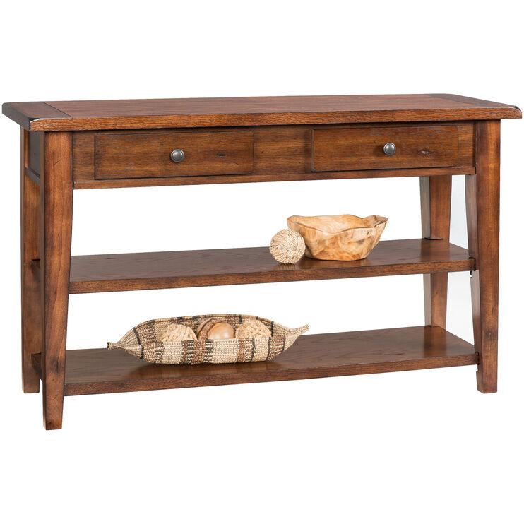 Clay County Oak Console Table Slumberland Furniture