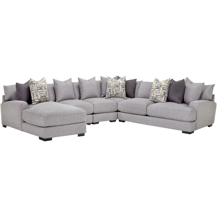 Wake Ash 5 Piece Left Chaise Sectional