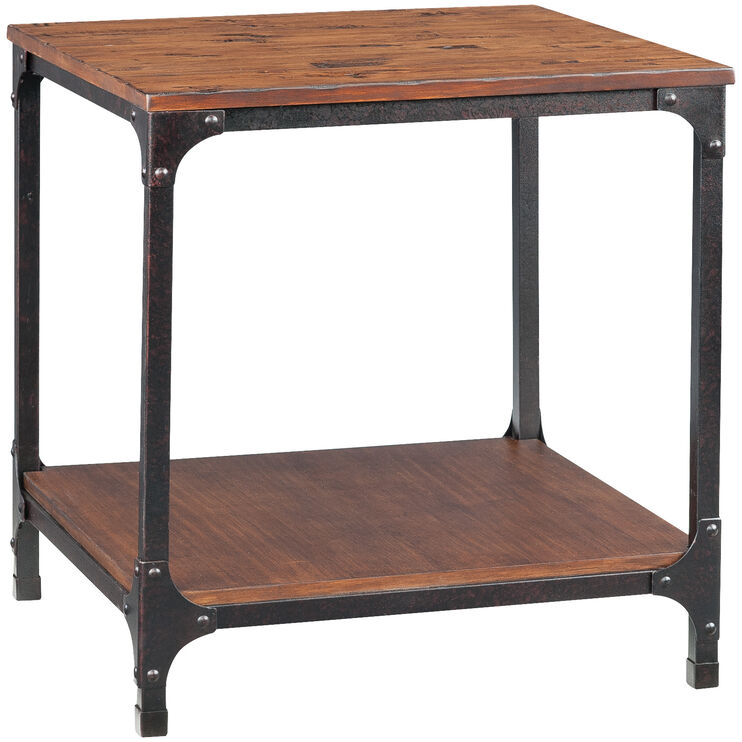 Abbott Distressed Pine End Table