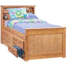 Heartland Honey Twin Captains Bed
