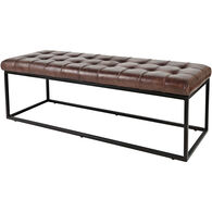 Strathmore Leather Bench
