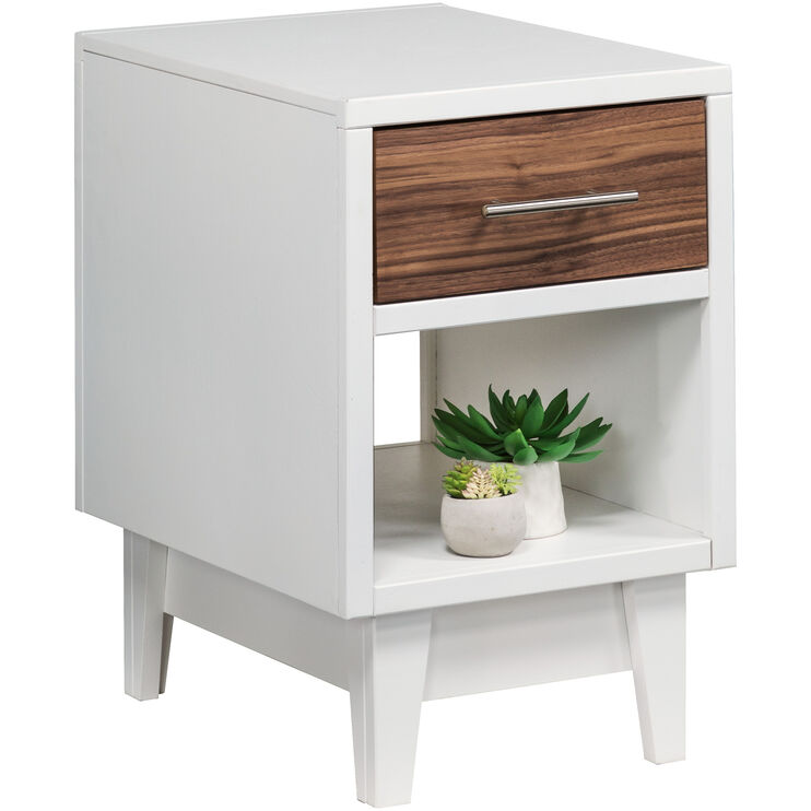 Draper White Chairside Table