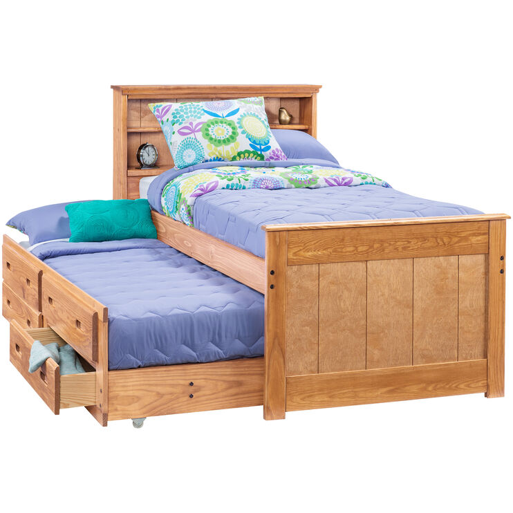 Heartland Honey Twin Trundle Bed