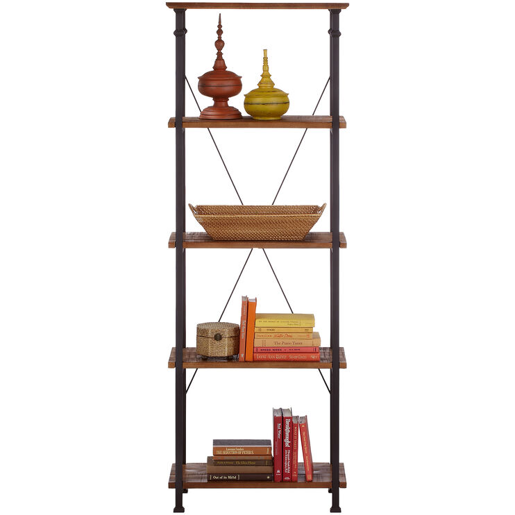 Ames Medium Brown Bookcase Pier