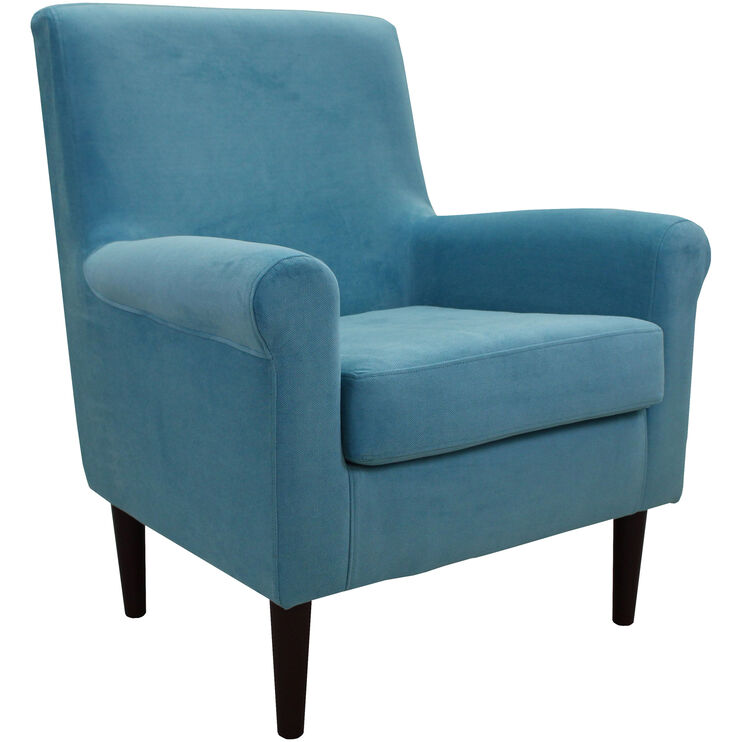Dark Turquoise High Accent Chair: Ellis Turquoise Accent Chair