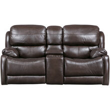 Palmer Brown Power Plus Reclining Console Loveseat