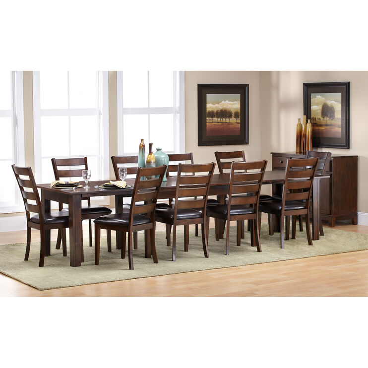 Kona Raisin 11 Piece 130 Inch Dining Set