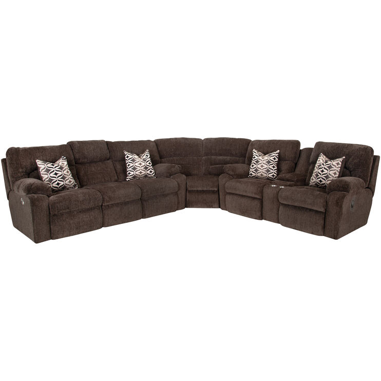 Nome 3 Piece Tiger Eye Power Plus Sofa Sectional