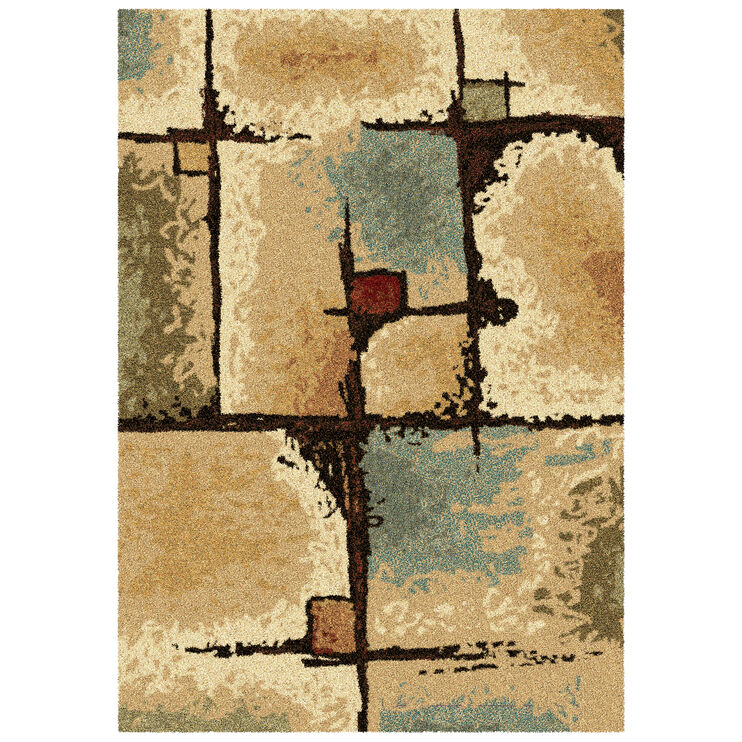 Wild Weave Jada Multi Color Blocks 8 x 11 Rug