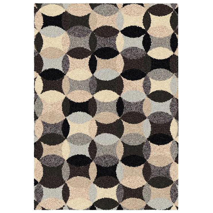 Shag Ri La Calliope Gray Circles 5x8 Rug