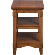 Cross Island Brown Chairside Table