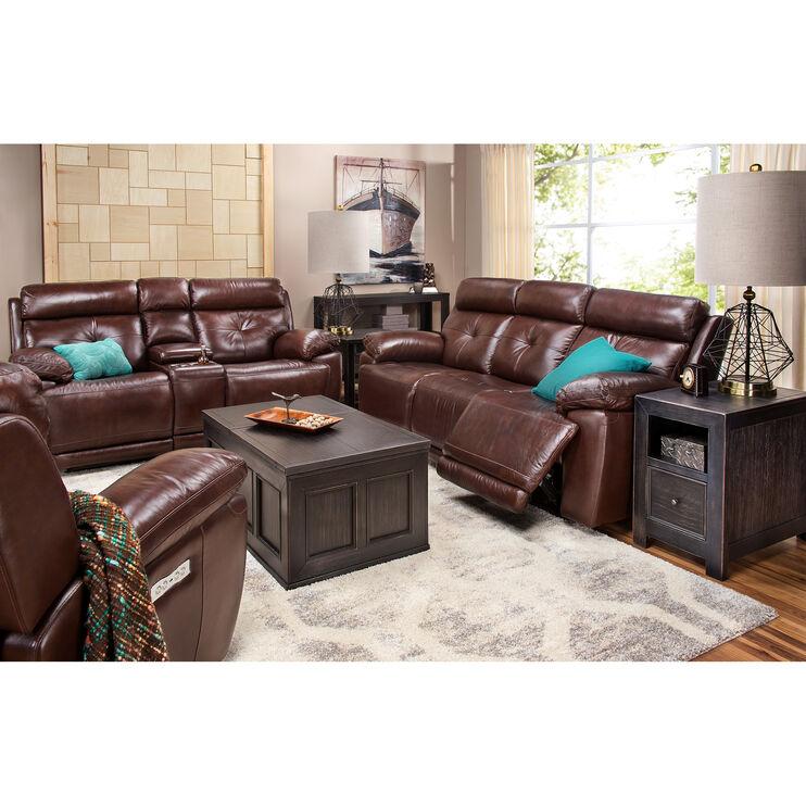 Rhodes Brown Power Plus Reclining Sofa