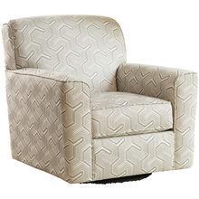 Genova Gray Swivel Accent Chair